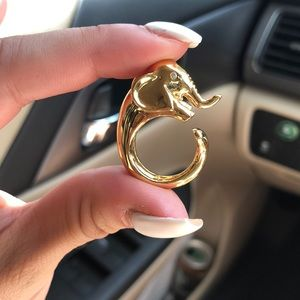 Gold Kate Spade Elephant ring